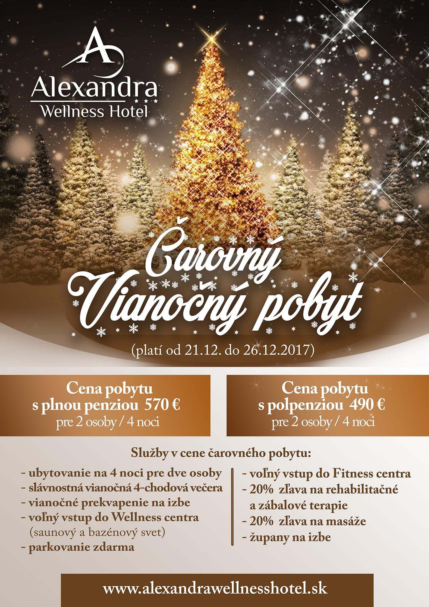 6a200a6e8d5c Čarovný Vianočný pobyt 2017 – Alexandra Wellness Hotel